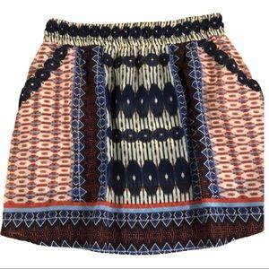 🌻Dylan boho multicolored skirt small